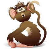 Monkey Cartoon. A Funny Little Cartoon Monkey Royalty Free Stock Photos