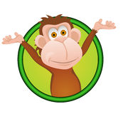 Monkey cartoon Royalty Free Stock Images