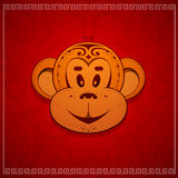 Monkey cartoon as symbol for year 2016 Stock Photos