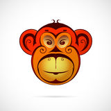Monkey cartoon as symbol for year 2016 Stock Images