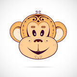 Monkey cartoon as symbol for year 2016 Royalty Free Stock Photography
