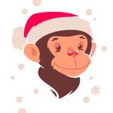 Monkey cartoon character Royalty Free Stock Image