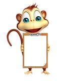 Monkey cartoon character with exam pad Stock Photo
