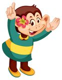 A monkey cartoon character. Illustration vector illustration