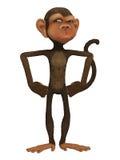 Monkey cartoon 3d Royalty Free Stock Image