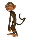 Monkey cartoon 3d Royalty Free Stock Photography