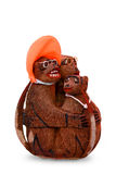 Monkey carved. Of a Coconut fruit Royalty Free Stock Photo