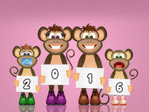 Monkey celebrate the New Year Royalty Free Stock Photos
