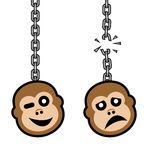 Monkey chain Stock Photos