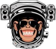 Monkey cheerful astranavt Royalty Free Stock Photography