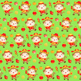 Monkey Chinese New Year Pattern Background. A vector set of chinese new year monkey year patterned background Stock Photos
