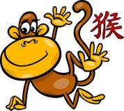 Monkey chinese zodiac horoscope sign Stock Photography