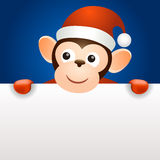 Monkey 2016 christmas new year banner template. Set Royalty Free Stock Images