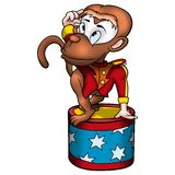 Monkey circus performer. High detailed and coloured illustration Royalty Free Stock Images