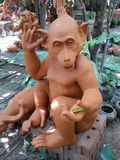 Monkey clay Stock Images