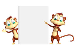 Monkey collection with white board Stock Photography