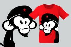 Monkey con la boina, el diseño de la camiseta, el uso moderno de la impresión para las camisetas, los recuerdos, las cajas para l ilustración del vector