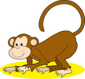 Monkey Crawling Royalty Free Stock Image