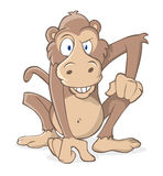 Monkey crazy. Monkey ready to take a leap Royalty Free Stock Photo