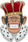 Monkey in a crown Stock Photography