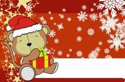 Monkey cute cartoon xmas claus costume background Royalty Free Stock Image