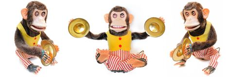 Monkey with Cymbals Royalty Free Stock Images