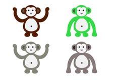 Monkey desenhos animados Imagens de Stock