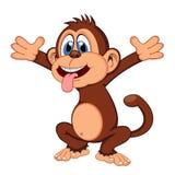 Monkey desenhos animados Imagens de Stock Royalty Free