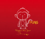 Monkey design for Chinese New Year celebration Stock Image