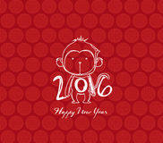 Monkey design for Chinese New Year celebration Royalty Free Stock Photography