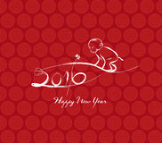 Monkey design for Chinese New Year celebration.  Stock Photos