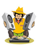 Monkey DJ Stock Photography