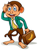 A monkey doing business Royalty Free Stock Image