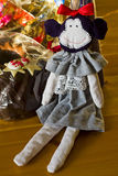 Monkey doll on the table. Royalty Free Stock Photos