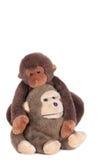 Monkey dolls embracing. Stock Photo