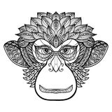 Monkey Doodle Face Stock Image