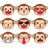 Monkey Emoji Expressions Stock Images