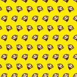 Monkey - emoji pattern 43. Pattern of a emoji monkey that can be used as a background, texture, prints or something else royalty free illustration