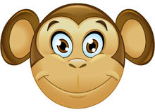 Monkey emoticon Royalty Free Stock Photo