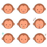 Monkey emoticons Royalty Free Stock Photography