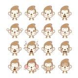 Monkey Emoticons set Stock Image