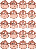 Monkey expressions Royalty Free Stock Image