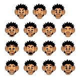 Monkey face expressions Royalty Free Stock Photos
