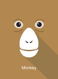 Monkey face flat icon simple design, vector illustration Royalty Free Stock Image