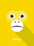 Monkey face flat icon simple design, vector illustration Royalty Free Stock Images