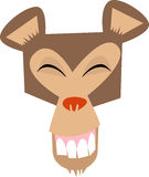 Monkey-face, happy!. Illustration of a laughing monkey-face, being happy with his life royalty free illustration