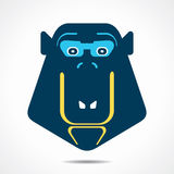 Monkey face icon illustration Stock Images