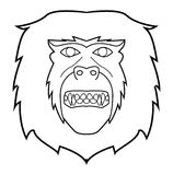Monkey face. Illustrator design .eps 10 Royalty Free Illustration