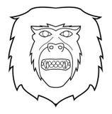 Monkey face. Illustrator design .eps 10 Royalty Free Stock Photo
