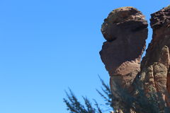 The Monkey Face rock at Smith Rock State Park Royalty Free Stock Photography